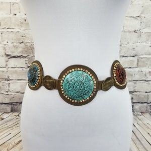 CHICO'S Metal Southwestern Filigree BOHO Belt